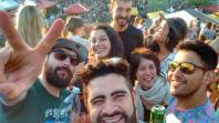 Con los amigos en Christiania para uno de los conciertos del domingo