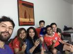 Reunion de chilenos para uno de los partidos